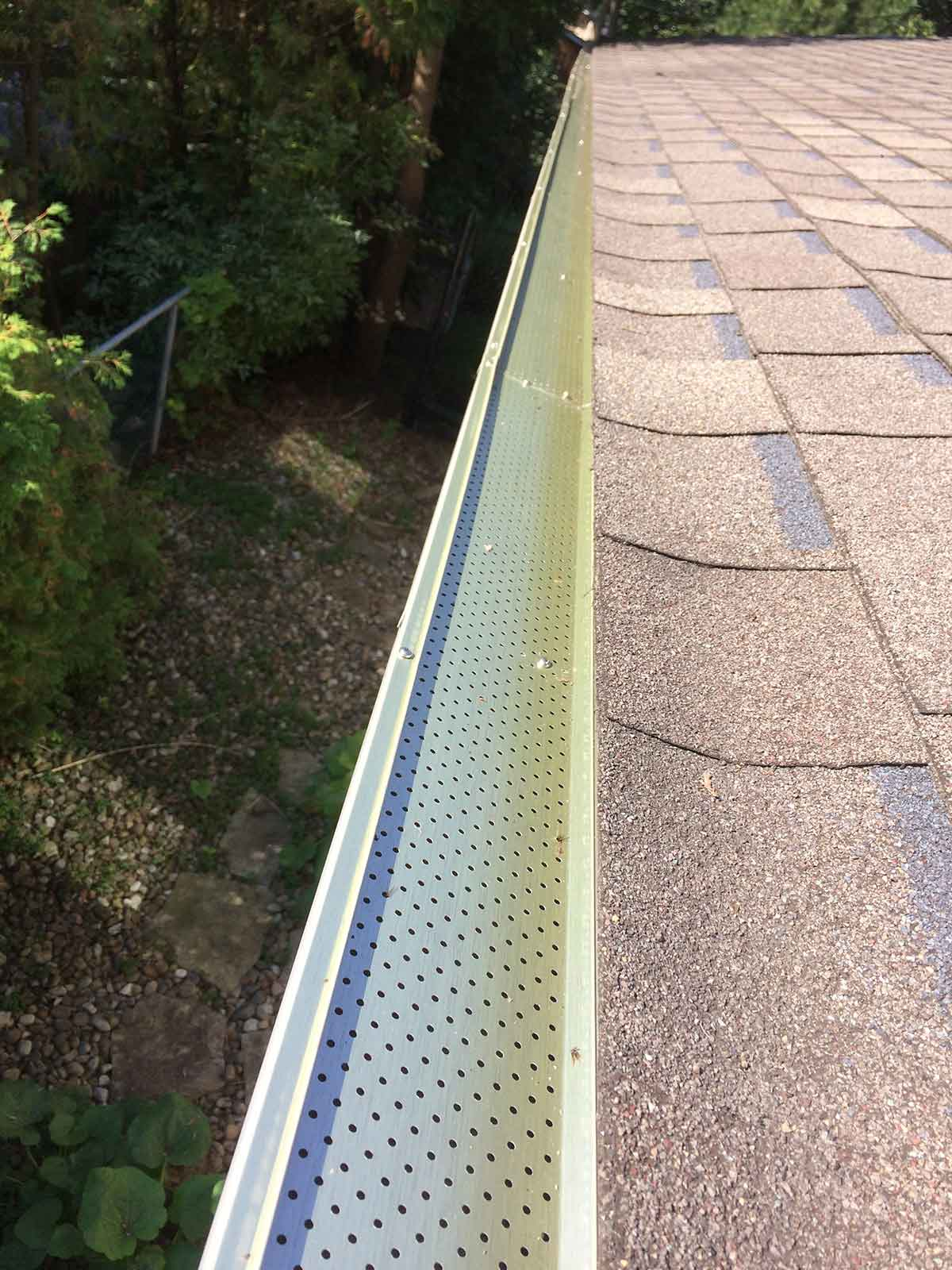Gutter and leaf cover installation